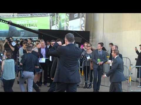 Moneyball (2011) Movie Premiere With Brad Pitt At Oakland's Paramount Theatre