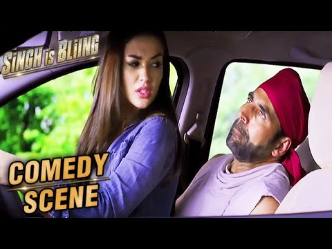 Amy Jackson Sits On Akshay Kumar's Lap In A Car | Comedy Scene | Singh Is Bliing | Lara Dutta | HD thumbnail