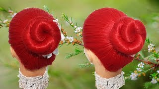 Beautiful hairstyles🌹 Cute hairstyles💫 Hairstyles for girls🍒 Party hairstyle🍃 Juda hairstyle