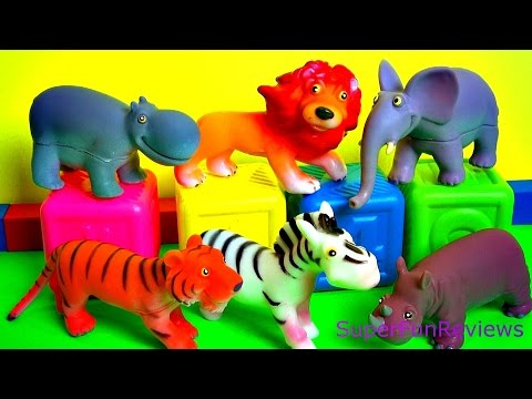happy cute zoo animals toy review with a surprise fun ending