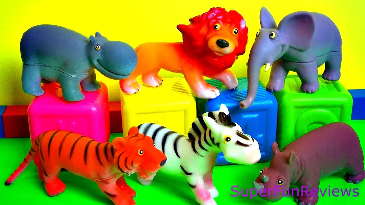 Happy Cute Zoo Animals Toy Review with a surprise FUN ending - YouTube Zoo Animals Toys
