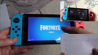Nintendo Switch : Fortnite SECRET Mini Game Space Invaders