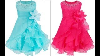 How to make quinceanera ruffled organza dress with rhinstones & Hand made flower belt