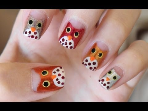 Easy Owl Nails