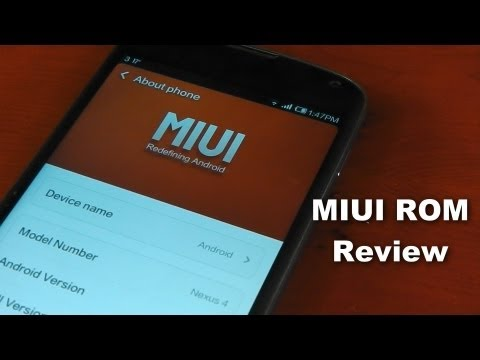Nexus 4 - MIUI - Custom Rom  - Review