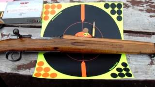 M96 Swedish Mauser 6.5 x 55mm with handloads, at 125 yards SHTF (no zombies)