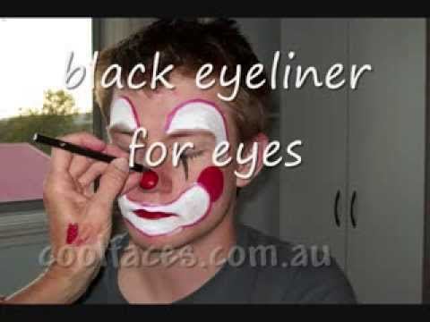 HOW TO PAINT A CLOWN FACE WITH GREASEPAINT