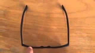 Plastic Eyeglass Frame Adjustment : How To Bend Plastic Glasses Frames. ??????