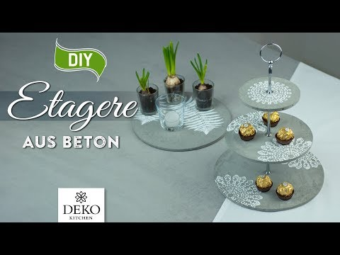 DIY: coole Etagere aus Beton selbermachen [How to] Deko Kitchen