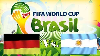 Germany vs Argentina 2014 FIFA World Cup Brazil Final Championship Game FIFA 14