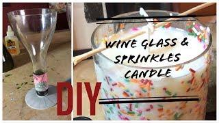 DIY Wine Glass & Candle (wine bottle)