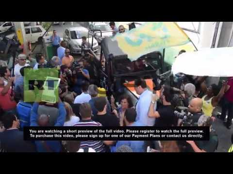 Brazil: Marina Silva greets supporters in Rio