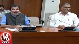 Irrigation Minister Harish Rao Meets Nitin Gadkari Over Kaleshwaram Project | Delhi