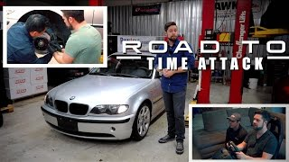 ROAD TO TIME ATTACK // Ep. 1 // BMW Build: StopTech Brake Install // Sim Training on Assetto Corsa