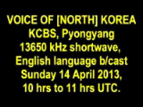 VOICE OF [NORTH] KOREA extracts 14 April 2013