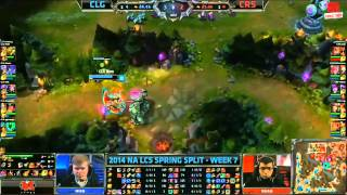 Video clip [02.03.2014] CLG vs CRS [LCS NA Xuân 2014]