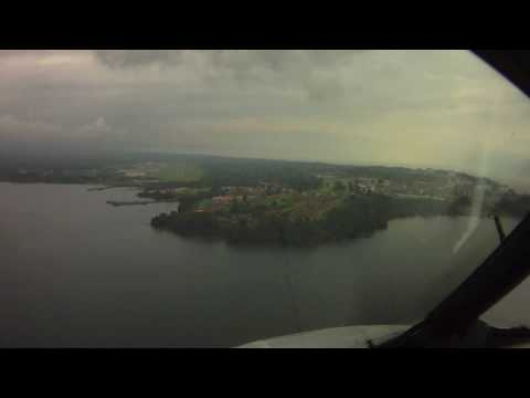 Pilot's eye view landing in Malabo