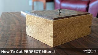 How To Cut Perfect Miters For Picture Frames And Boxes