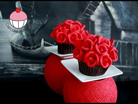 Rose Flower Bouquet Cupcake - A Cupcake Addiction How To Tutorial