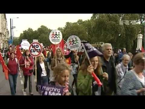 London Hit by MASS PROTEST Against Government's AUSTERITY CUTS | Pain of Austerity Anger Unleashed
