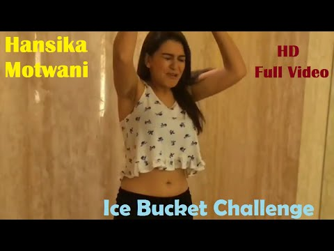 Hansika Motwani Ice Bucket Challenge in her bathroom