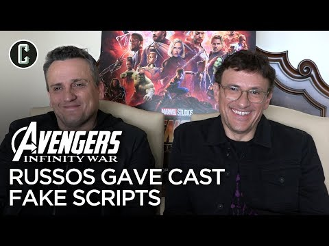 Russo Brothers On Avengers: Infinity War Deleted Scenes And Giving The Cast Fake Scripts