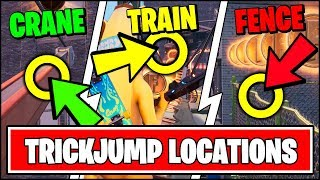 HIT ANY OF THE TRICKJUMPS ON EITHER THE CRANE, ELEVATED TRAIN, OR FENCE (Fortnite Downtown Location)