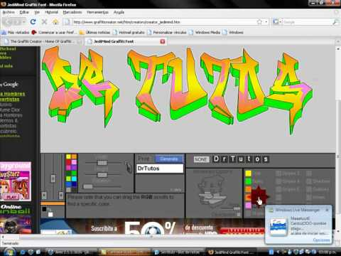 Letras de graffiti con graffiti creator Video