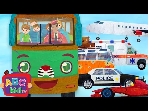 Wheels on the Bus and Vehicles 2  Nursery Rhymes & Kids Songs - ABCkidTV