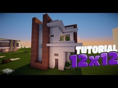 Minecraft: Como hacer una casa moderna 12x12 Tutorial de Construccion
