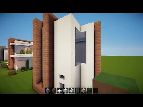 Minecraft: Como hacer una casa moderna |12x12 - Tutorial de Construccion!