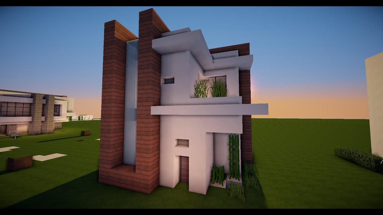 Minecraft como hacer una casa moderna 12x12 tutorial for Modelos de construccion de casas modernas