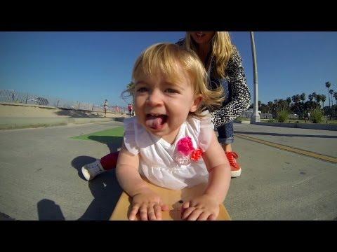 Ava, Baby Skateboarder