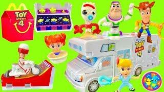 Set Completo de la Cajita Feliz de McDonald's de la Película de Toy Story 4 de Disney Pixar