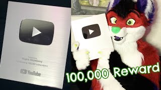 FURRY SILVER PLAY BUTTON UNBOXING (100,000 Subscribers Reward)