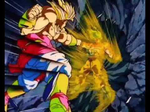 Goku Fights Broly by Jr®-broly vs Goku Linkin