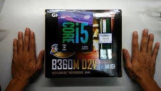 Intel i5 8400 with Gigabyte B360M D2V