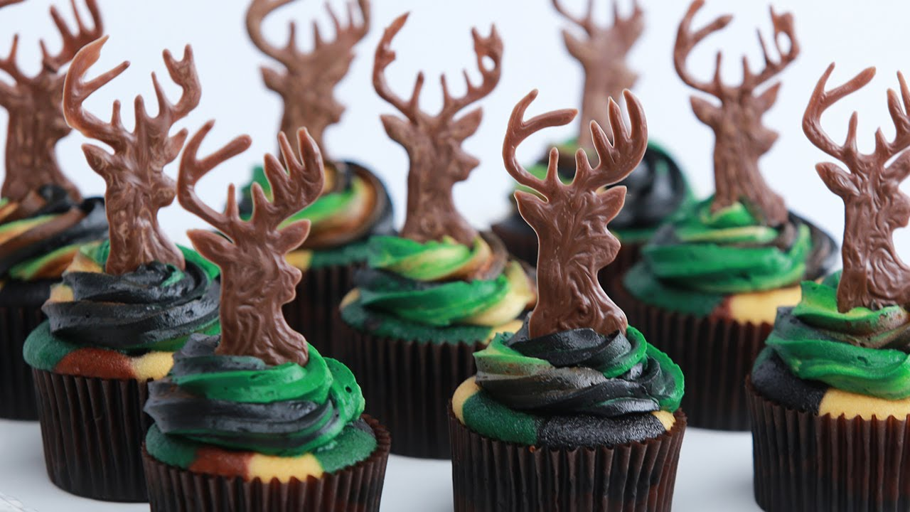 Camouflage Deer Hunter Cupcakes Nerdy Nummies Youtube