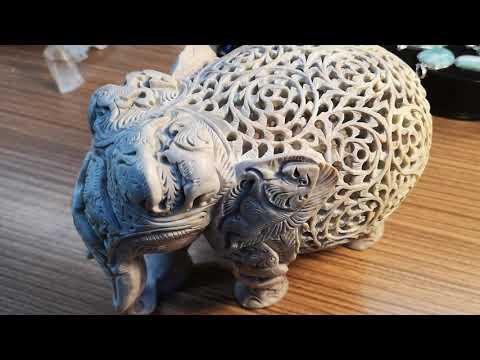 Elefant aus indischem Marmor