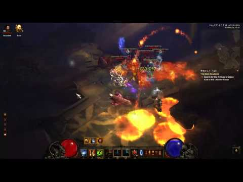 Diablo 3 - WD - Vault of the Assassin - MP10 - 3 runs: 7min/run average