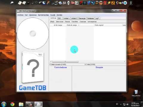 Convertir juegos para wii... ISO - WBFS (HD)