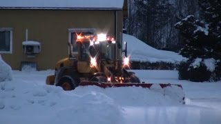 Volvo L70G -  Multiplog 5000 in snow clearing