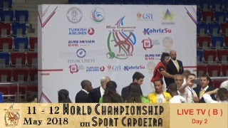 2018 World Championship on Sport Capoeira (Live Tv ( B ) DAY 2