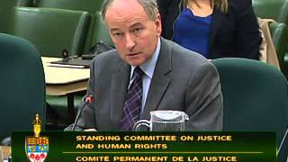 Justice Minister Rob Nicholson testifies on Bill C-37 (Increasing Offenders