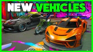 GTA 5 ONLINE NEW UNRELEASED DLC IMPORT/EXPORT VEHICLES SHOWCASE! SPORT CARS &MORE! DRIVING IN SNOW:D
