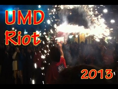 HIGHLIGHTS: UMD Riot After Terps Beat Duke 2013 (83-81)