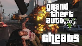 GTA V Cheats (Grand Theft Auto 5 Cheat Codes, Explosive Melee Attack, Skyfall, Flaming Bullets)