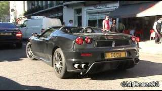 Two Crazy Girls with Ferrari 430 Spyder Revving!!!!