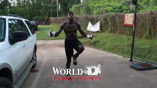 WBC Heavyweight Champion Deontay Wilder in fight camp for adversary Dominic Brezeale, 18 May, 2019.