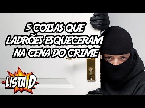 5 coisas que ladrões idiotas esqueceram na cena do crime